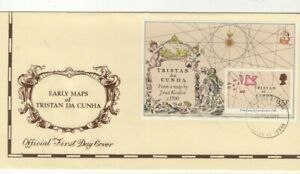 1981 TRISTAN DA CUNHA - EARLY MAPS FDC FROM COLLECTION G19