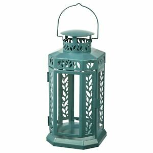 Classy ENRUM Lantern f Block Candle, In/Outdoor, Turquoise 28 cm.