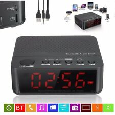Digital LED Display Alarm Clock Bluetooth Speaker FM Radio Mp3 Player TF DC 5V