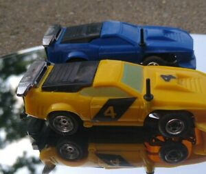 Vintage Lionel Power Passers Super Crash Ford mustangs Slot Less Car