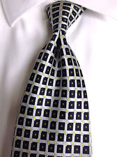 "LUXURY S. T. DUPONT PARIS FRANCE  Beige /black  100% Silk Tie 60""X 3. 3/4"""