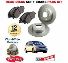 FOR TOYOTA COROLLA VERSO VVTi D4D 2004-2009 NEW REAR BRAKE DISC SET + PAD SET