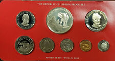 1978 Liberia 8 Coin Proof Set with Silver $5 Coin in Original Package