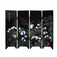 Chinese Folding Table Screen - Giant Pandas - 24cm Tall - Gift Box