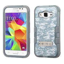 For Samsung Galaxy Prevail LTE Rubber IMPACT TUFF Hybrid KICKSTAND Case Cover
