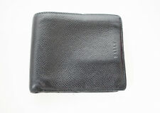 Bally Mens Leather Wallet Bifold Black