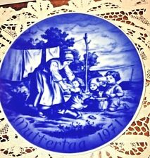 "German China Plate Blue And White ""Muttertag 1971"" Mother'S Day 1971=Special!"