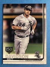 Matt Davidson 2019 Topps Baseball 150 Years Series 1 #188 MLB Chicago White Sox