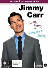 Jimmy Carr - Being Funny & Laughing & Joking (DVD, 2015, 2-Disc Set) - Region 4