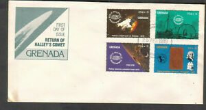 Grenada 1989 cachet FDC first day covers return of Halley's Comet stamps