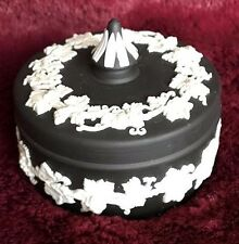 WEDGWOOD BLACK BASALT JASPERWARE TRINKET BOX