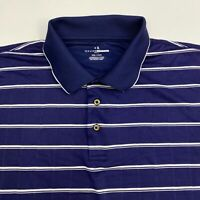 Grand Slam Golf Polo Shirt Men's Size 2XL XXL Short Sleeve Blue Striped Casual