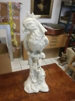 ** Uccello rapace ceramica statua 57x20 cm Bassano scultura **