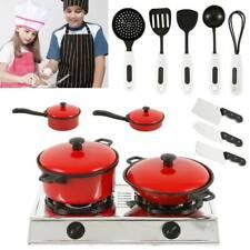 13 * Kids kitchen Food Toys Cooking Utensils Pots Pans Accessories Set Childrens