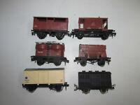 Konvolut 6 alte Hornby Spur 00 Eisenbahnwagen Güterwagen