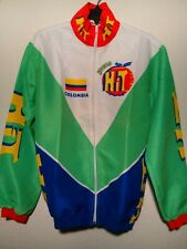 Vintage 90's Medium Zerie Jugos Hit Colombia Flag Cycling Jacket Free Shipping