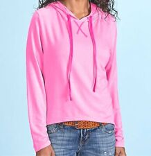FRESH PRODUCE Large Flamingo PINK Diana Modal HOODIE Pullover $75 NWT New L