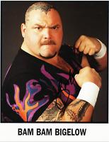 Bam Bam Bigelow Autograph Pre Print Wrestling Photo 8x6 Inch