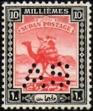 Sudan 1922-24 Army Service 10m.Carmine & Black  SG.A28 Mint (Hinged)  Cat:£35