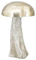 XL Pilz 25 cm silber Deko Herbst Winter Shabby Landhaus Shabby