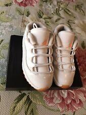 Nike Air Jordan Retro 11 Low Citrus kids size 10c white/citrus orange