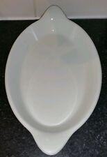 Oval Steelite roasting dish, vintage, in white 34cm long by 19cm wide