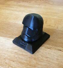 Star Wars Storm Trooper Helmet Stand Model 3D Printed Black Collectable UK Stock