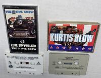 2 LOT RAP Cassettes Kurtis Blow America Luke Skyywalker 2 Live Crew Free Ship