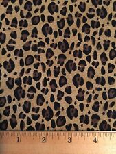"Cotton Fabric CHEETAH / Leopard Print Fat Quarter DIY Mask Making 18"" X 22"""