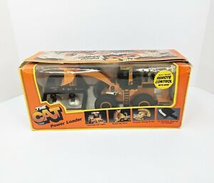 Vintage 1986 New Bright The Cat Power Loader No. 290 Caterpillar Remote Control