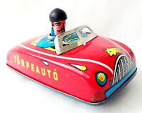FOREIGN Hungarian 60's Tin Litho Wind Up Friction TOY CAR Torpeauto Torpedo Auto