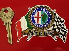 ALFA ROMEO Flags & Scroll classic sports car sticker Mito AlfaSud GTV Spider