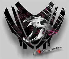 Arctic Cat M7 M8 M1000 Crossfire 05 - 11 Graphic Decal Sticker Hood Skull Pink