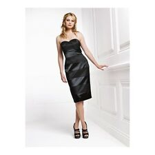 NEW HOLLY WILLOUGHBY BLACK MATT & SHINE DRESS Size 6/34