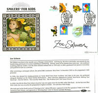 30 APRIL 2009 SMILERS FOR KIDS SIGNED ZOE SALMON BENHAM FIRST DAY COVER SHS