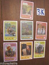 7 Figurine carta carte esselunga eroi dreamworks NUOVE 73 80 91 93 97 99 102
