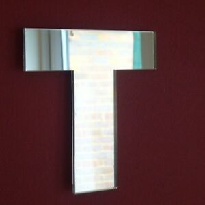 Contemporary Letter T Acrylic Mirrors (Several Sizes Available)
