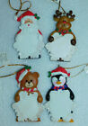 Teddy Bear Ornament Reindeer Penguin Santa Glitter Snowflake Christmas Tree 4