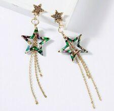 New Fashion Betsey Johnson Alloy rhinestone Star Drop earring Fashion Jewelry