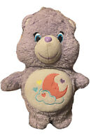 "Care Bears Wish Bear Glow A Lot Purple Plush 13"" 2015 Just Play Star LE Rare"
