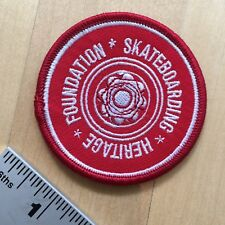 Skateboarding Heritage embroidered patch - iron-on or sew