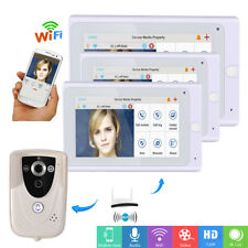 "HD 7"" WiFi Wireless Video Door Phone Intercom Doorbell IP Camera IR Night Vision"