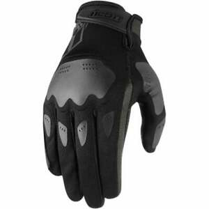 Icon Hooligan Motor Bike Motorcycle Gloves - Black