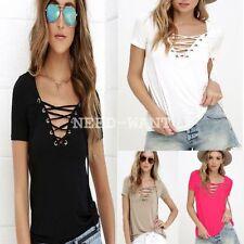 Unbranded Polyester Short Sleeve Basic T-Shirts for Women