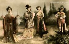 Leopold Reutlinger Photo, Hand Tinted Costumed Ladies, Paris, 1890