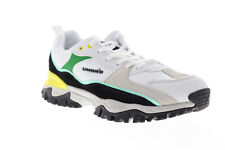 Umbro Bumpy UUMF145293U-JFB Mens White Suede Mesh Lace Up Low Top Sneakers Shoes