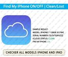 Check iCloud Status iPhone & iPad  Find My iPhone (FMI) ON | OFF / CLEAN | LOST
