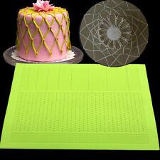 Large Lace Mat Dot Veil Silicone Mold Fondant Cake Decorating Tools Sugarcraft