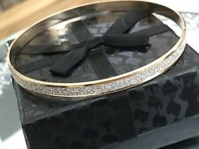 & Silver Tone Bracelet Bangle - Gorgeous Glittery Gold