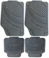 4Pc Universal Heavy Duty Sakura Tyre Tread Rubber Car Mats Non Slip Washable MK2